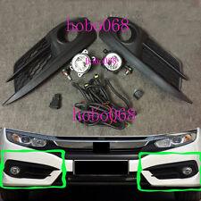 1SET For Honda Civic 2016 Car Front Bumper FOG Light LAMPS BULBS Switch LINE OEM
