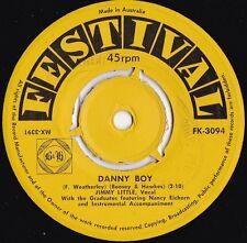 Jimmy Little ORIG OZ 45 Danny boy VG+ '59 Festival FK3094 Gospel Folk