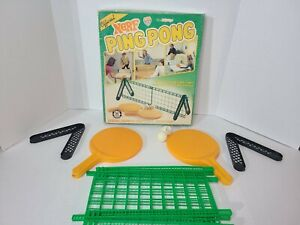 Vintage OFFICIAL Nerf Ping Pong Table Tennis Set Parker Brothers 1982