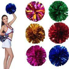 2Pcs Cheer Pom Poms Flower Ball Dance Game Pompoms Props for Match Gymnastics