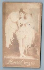 MLLE NEBBIA, ACTRESS, BURLESQUE DANCER, HONEST LONG CUT TOBACCO,  CARD CDV PHOTO