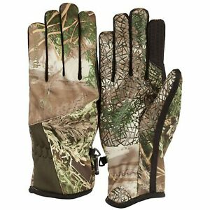 Huntworth Men's Stealth Series Midweight Gunner camouflage hunting gloves L/XL