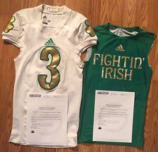 Notre Dame 2013 Game Used Shamrock Series Jersey/shirt Amir Carlisle COA Steiner