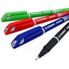 STABILO CAPTEUR feutres pointe fine – noir, bleu, rouge, vert clair – Journal