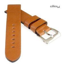 Diloy Deluxe - Uhrarmband Vintage orangebraun - 20 mm Lederuhrband ohne Steppung