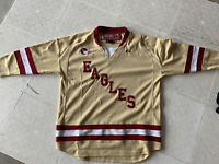BOSTON COLLEGE EAGLES Gold No Tags Hockey East YOUTH Jersey YLG Under Armour