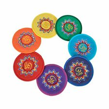 More details for bermoni round cushion for singing bowl with embroidered