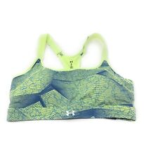 Women's Under Armour UA Green Reflect Mid Printed Sports Bra Size XL