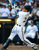BREWERS Mat Gamel signed 8x10 photo AUTO COA HOLO Autographed Milwaukee