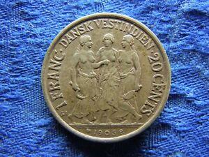 DANISH WEST INDIES 20 CENTS 1905, KM79