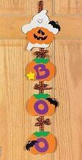 1 Ghost Door Hanger Craft Kit Pumpkin Boo Halloween Kid