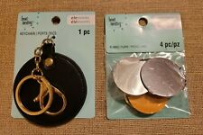 Bead Landing Elemints Blanks Keychains, 4 Pcs, Silver & Copper,1 Black Keychain
