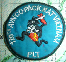 PACK RATS - Patch - 120th ATTACK HELICOPTER CO - 25th INF - Vietnam War - 2182