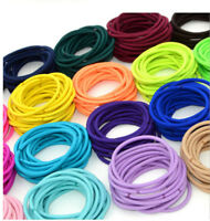 Colourful Thick Endless Snag Free Hair Elastics Bobbles Bands Pony Tails