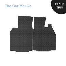 Porsche Cayman 2005-2013 Fully Tailored Black Rubber Car Mats With Black Binding