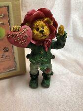 Boyds Bearstone Shoe Box Bear Rosie Thornbeary Somebody Loves You Fig Nib!