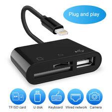 Portable USB TF SD Card Reader Camera OTG Adapter for iPhone iPad