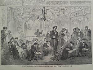 Mississippi River Boat the Ruth a Religious Service 1866 Harper's Weekly