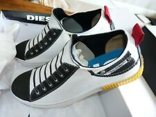 Diesel Imaginee 7, 9 Low Slip On Mens White Canvas Sneakers Trainers Shoes