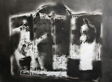 Abstract modernist religious figures print signed