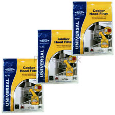 3 x Pelgrim Universal Cooker Hood Extractor Grease Filter 114 x 47cm Cut To Size
