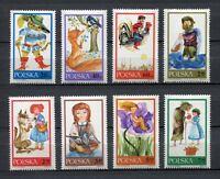 35777) Poland 1968 MNH Fairy Tales 8v. Scott #1569/76