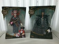 Disney Alice Through The Looking Glass Deluxe Collector Dolls -Mad Hatter & Time