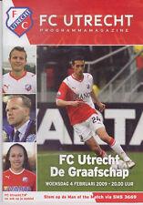 Programma / Programme FC Utrecht v De Graafschap Doetinchem 04-02-2009