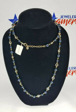 Charter Club Gold-Tone Crystal & Colored Imitation Pearl Strand Necklace