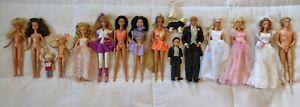 LOT Barbie Ken Kelly Skipper Midge Stacie Hollywood Hair Theresa Wedding fashion