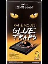New listing Kingman Rat Rodent Mouse Glue Trap Large 1 Pack 2Traps