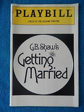 Getting Married - Circle In The Square Theatre Playbill - July 1991 - Guy Paul