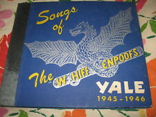 "The Songs Of The Wiffenpoofs, Yale 1945-1946.  78rpm, 4 x 10"", E."