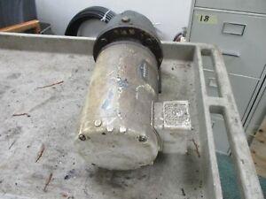 Baldor Motor W/ Gear CWOM3546 1HP 1800RPM 230/460V 3.2/1.6A Frame: 56C 60Hz Used