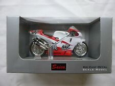 SAICO 1:18 SCALE  HONDA WHITE / RED NSR 500  MOTORCYCLE  [MINT AND BOXED]
