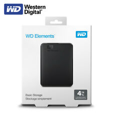 Western Digital 4TB Elements Portable External Hard Drive USB 3.0 with Tracking#