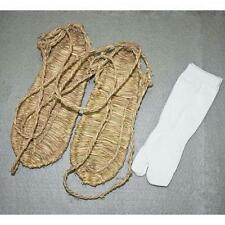 NEW SIZE M COSPLAY BLEACH STRAW SANDALS SLIPPER SHOES + TWO TOE SOCK FREE X