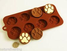 Paw Print Perro Bakeware del silicón Molde Molde del chocolate Cookie Candy Jabón Resina Cera
