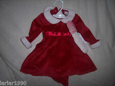 INFANTS GIRLS SAVANNAH RED HOLIDAY DRESS W/HEADBAND~SIZE 6M~NEW WITH TAGS