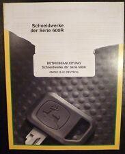 John Deere Schneidwerk Serie 600R (WTS, CTS) Anleitung