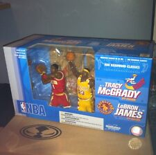 McFarlane NBA Retro LEBRON JAMES Cavaliers TRACY MCGRADY Rockets 2-Figure Set