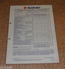 Inspektionsblatt Suzuki UF 50 Typ WVBA Baujahr 2000