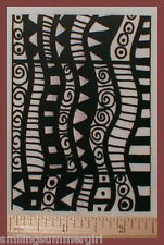 ATC size Deep Etch UM rubber art stamp-polymer clay 5