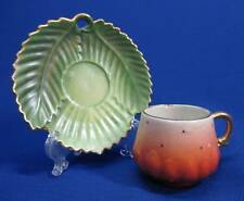 VINTAGE GERMAN STRAWBERRY CUP AND SAUCER SET