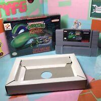 Teenage Mutant Ninja Turtles Tournament Fighters Super Nintendo SNES Game & Box