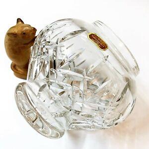 Doulton International Cut Crystal Rose Bowl Posy Vase, 16cm Tall