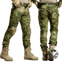 Mens Frog suit Army Trousers Multi-pocket Tactical Combat Cargo Camouflage Pants