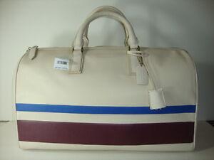 Coach bleecker debossed stripe leather duffle ~ F93247