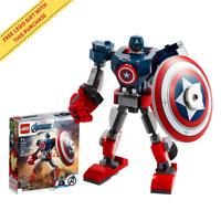 LEGO Marvel Super Heroes Captain America 76168 Mech Armour Suit & Minifigure Set