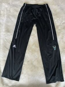 Adidas Mens Black Milwaukee Bucks Basketball Pants Large